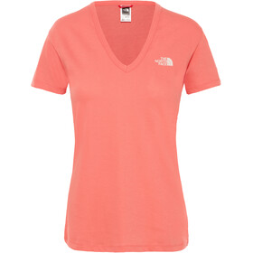 The North Face Simple Dome Maglietta a maniche corte Donna rosso